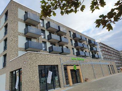 Neubau-Erstbezug: Rollstuhlgerechte 2-Zimmer-Kompaktwohnung im Quartier Berliner Straße
