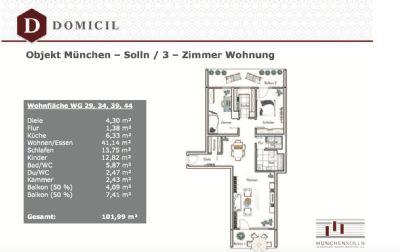 Verkauf einer 102 Quadratmeter Münchener 3-Zimmer-Eigentumswohnung