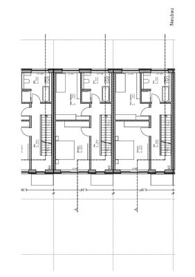 Obergeschoss Grundrisszeichnung Reihenmittelhaus