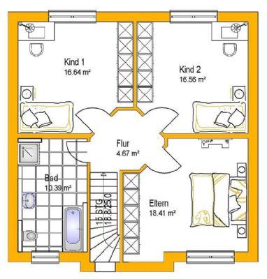 Beispielgrundriss Obergeschoss