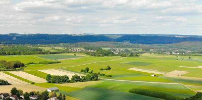 Grünland, Äcker und Wald in sonniger Lage Burgthann-OT