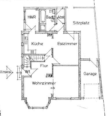 Grundriss Erdgeschoss  Kleine Breite 7