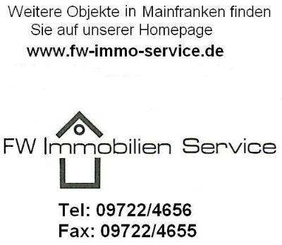 Einer von 2 interessanten Grundstücken in Bütthard Weitere Objekte: www.fw-immo-service.de