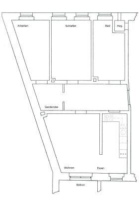 Großzügige Single-Wohnung (2,5 Zi.), Innenstadt