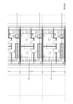Dachgeschoss Grundrisszeichnung Reihenmittelhaus