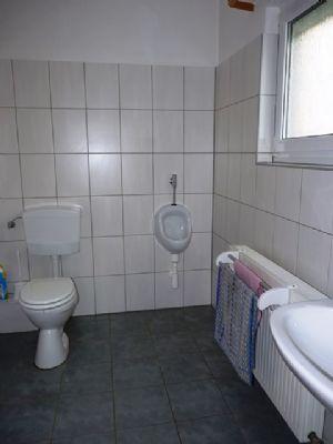 Der WC Raum im Erdgeschoss