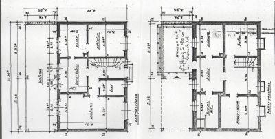 Grundrissplan EG+Keller (Balkon ist Wintergarten)
