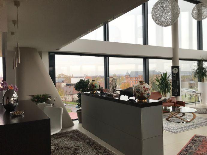 Hoch über Karlsruhe - Außergewöhnliche Penthouse/Loft- Wohnung - 201 ...