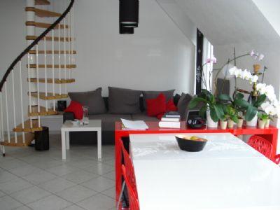 Wohnraum, Treppe zum Dachgeschosszimmer