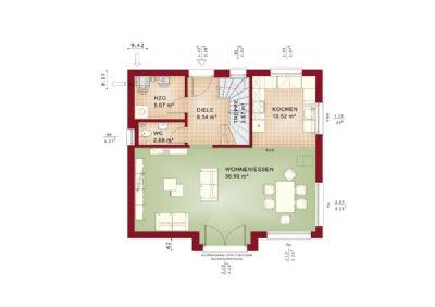 energieeffizientes haus in ruhigem wohngebiet. Black Bedroom Furniture Sets. Home Design Ideas