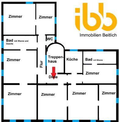 wohnen arbeiten gro e familie alles ist hier m glich 7 zimmer etagenwohnung forchheim oberfr. Black Bedroom Furniture Sets. Home Design Ideas