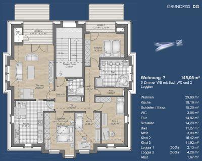 Grundriss Wohnung 7 - DG