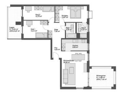eleganz entschleunigung entspannung wundersch ne 4 zimmer erdgeschosswohnung mit berdachter. Black Bedroom Furniture Sets. Home Design Ideas