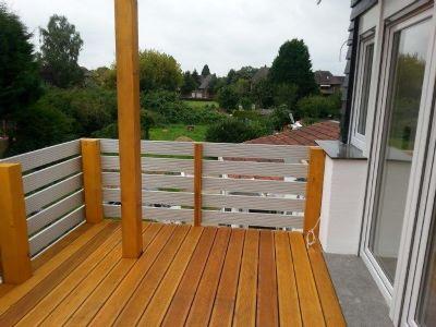 Balkon kleines Haus