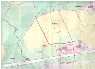 gesamter Lageplan mit 7.5 ha Land am Hof