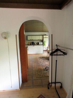 Rundbogentür vom Wohn-Schlafbereich ins Esszimmer