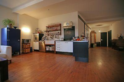 Die offene Einbauküche
