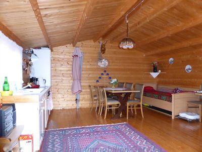 Innenansicht Holzblockhaus