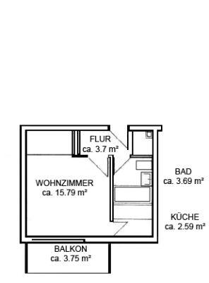 - Bezugsfrei - Gut geschnittenes 1-Zimmer Appartement mit Balkon in  München-Laim