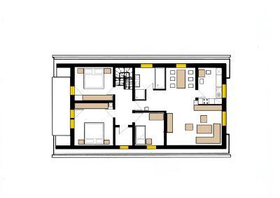 Dachgeschoss über die komplette Etage!