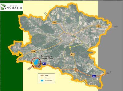 Bild 1: Lage im Stadtgebiet
