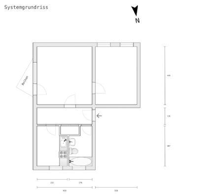 2 zimmer wohnung mit kleinem balkon in innenstadtn he etagenwohnung einbeck 2d4tk4u. Black Bedroom Furniture Sets. Home Design Ideas