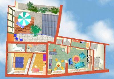 Die Wohnung mit Balkon und Flachdach