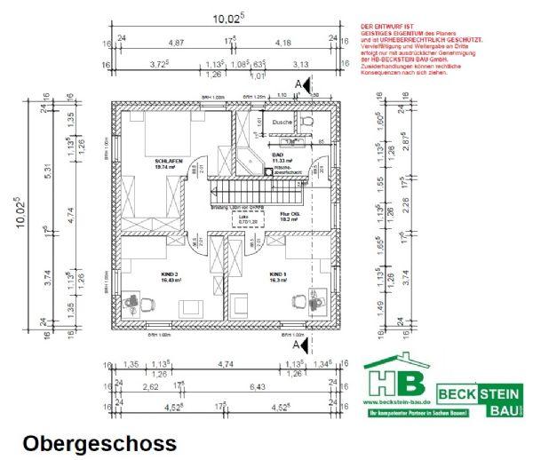 Bild 2 Von 18: Haus 2 Grundriss Obergeschoss