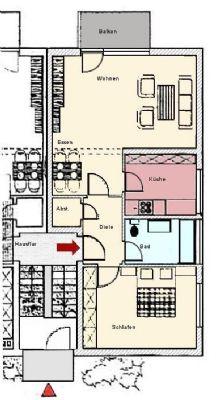 sonnenbalkon inkl etagenwohnung ingelheim 28gnt4f. Black Bedroom Furniture Sets. Home Design Ideas