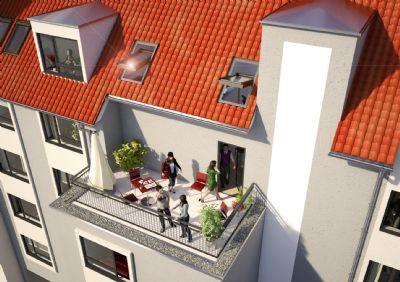 Außenansicht Hofseite (Modell)