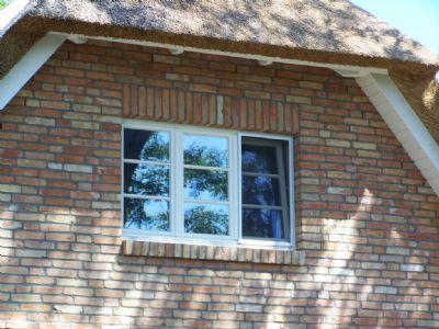 Reetdachhaus Fenster Insktenschutz