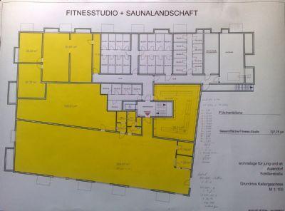 Gesamte Räume - gelb markiert