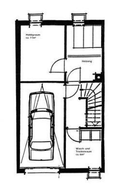 Kellergeschoss mit Garage