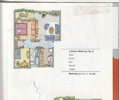 3-Zimmer-Wohnung mit Balkon, bezugsfertig nach Vereinbarung