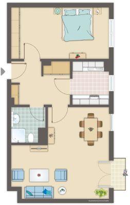 sofort verf gbar 2 raum wohnung mit balkon fu bodenheizung au enrollos tiefgarage. Black Bedroom Furniture Sets. Home Design Ideas