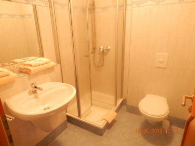 Dusche / WC in einem DZ