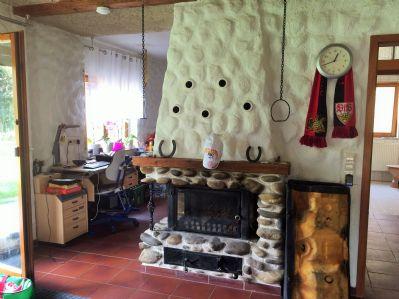 Kaminofen im Wohn-Essbereich