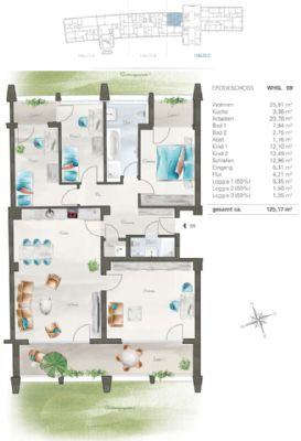 Grundriss Wohnung - EG
