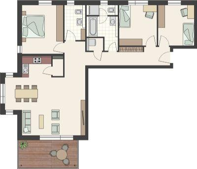 wohnpark zum turmblick burkhardstr 15 in rottweil wohnung rottweil 2jgfs4q. Black Bedroom Furniture Sets. Home Design Ideas