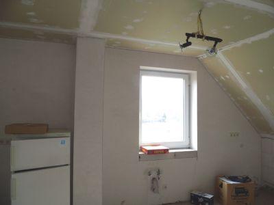 Küche im Dachgeschoß