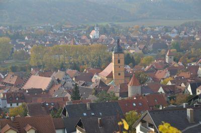 Sommerhausen (im Hintergrund Winterhausen)