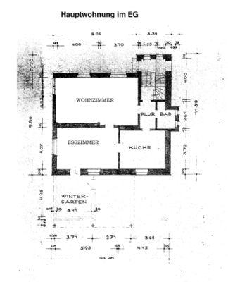 Grundriss EG Hauptwohnung