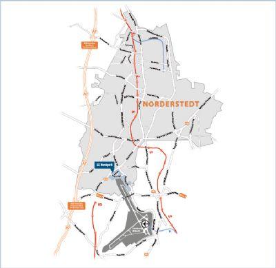 Lage in Norderstedt