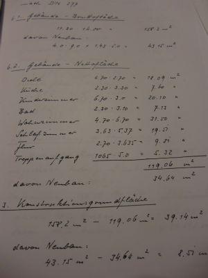 Berechnung der Flächen nach DIN 277