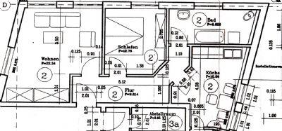 Bild 1 Grundriss der Wohnung