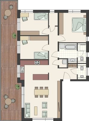 wohnpark zum turmblick burkhardstr 15 in rottweil wohnung rottweil 2jt8s4q. Black Bedroom Furniture Sets. Home Design Ideas
