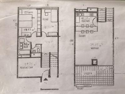 Schöne große 3-Zi-Maisonette Wohnung zu vermieten