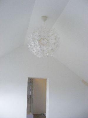 Lampe des Schlafzimmers oben