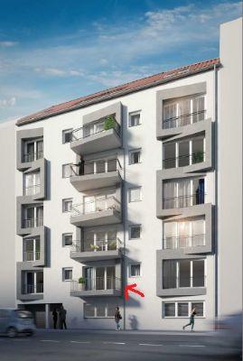 NEUBAU! Vollmöbiliert PROVISIONSFREI! 2-Zimmer-Wohnung mit Bodenheizung, elektrische Rolläden, Keller, TG-Stellplatz Zentral 600m zum Bahnhof