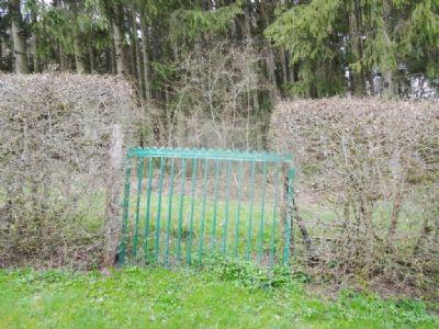 Vom Garten geht es direkt im Wald
